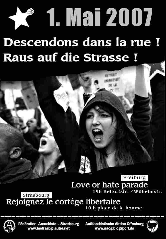 1. Mai 2007 Plakat Strasbourg