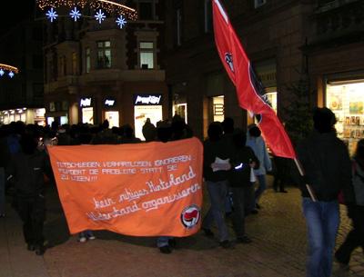 """demo in lahr \""""gegen neonazis und gewalt"""